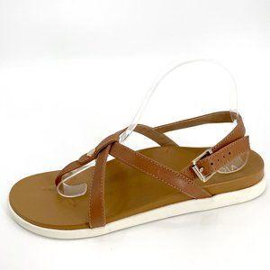 Vionic   Leather Veranda Backstrap Brown 10 Sandal